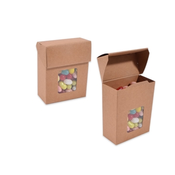 Kraft Candy Boxes With Windows Wholesale